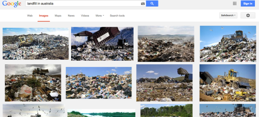 This is what i found on Google image. Landfill is not going to solve the problem completely.
